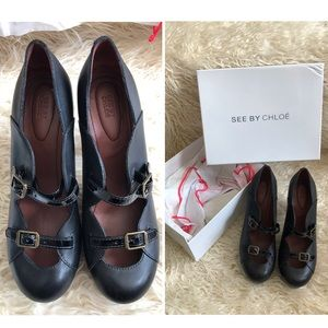See By Chloe leather and patent shoes